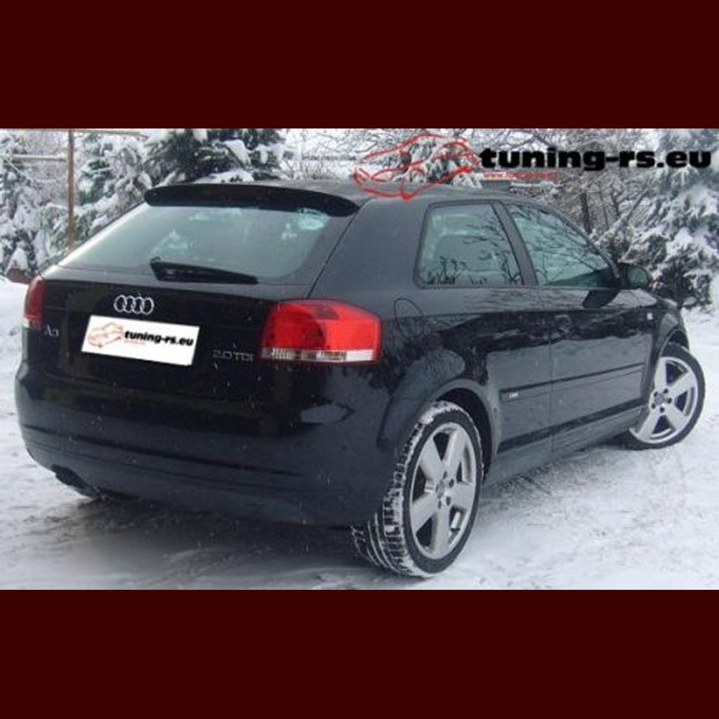 audi a3 s3 rear roof spoiler 8p s line tuning ebay. Black Bedroom Furniture Sets. Home Design Ideas