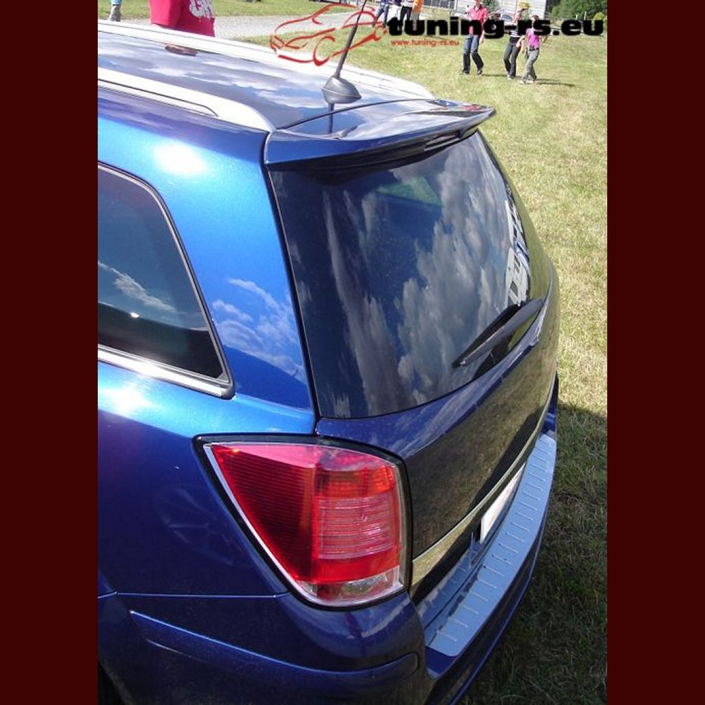 vauxhall astra h caravan rear window spoiler opc look ebay. Black Bedroom Furniture Sets. Home Design Ideas