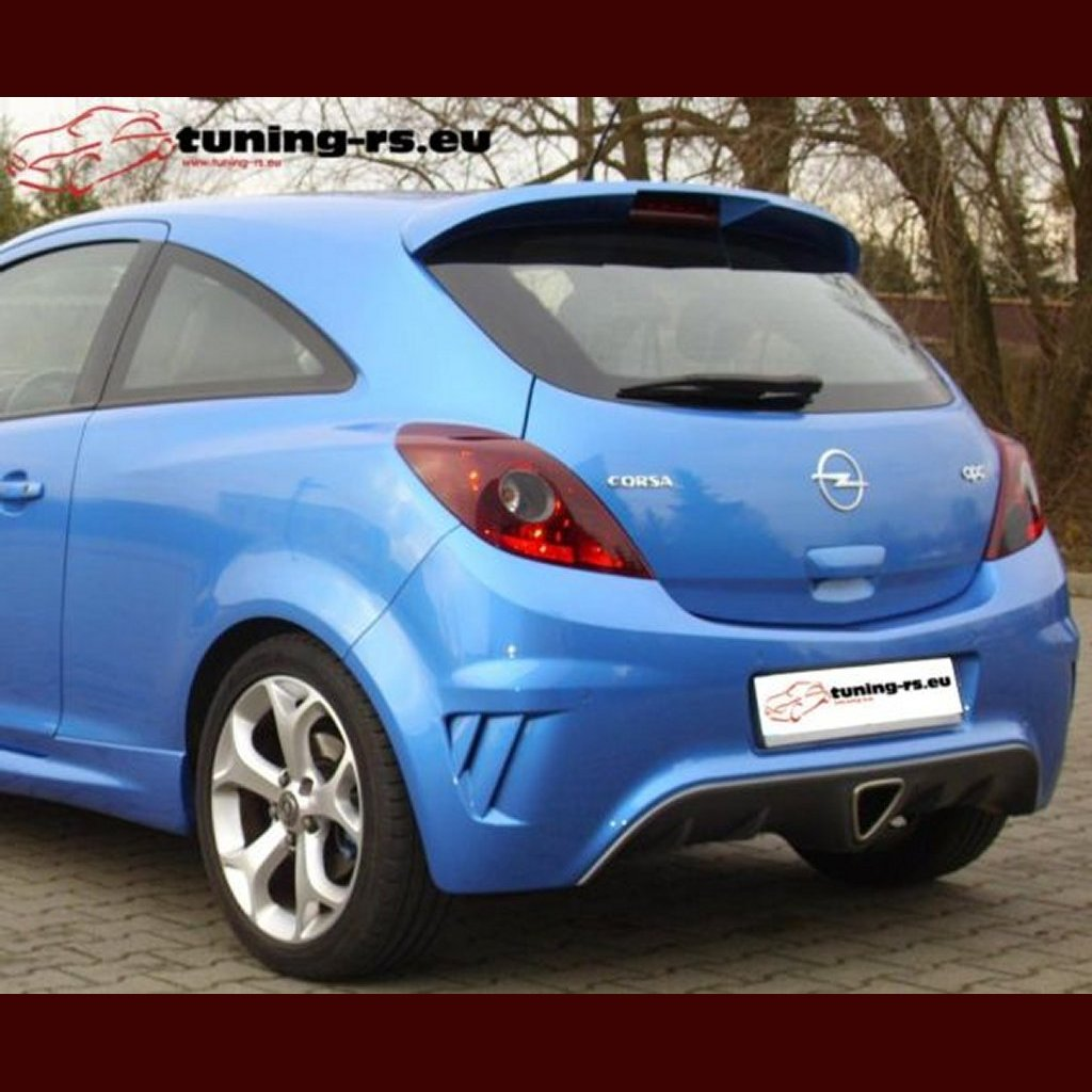 opel corsa d dachspoiler spoiler opc look tuning ebay. Black Bedroom Furniture Sets. Home Design Ideas